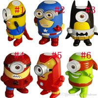 Wholesale Despicable Me Mini Cartoon Bluetooth Speaker Wireless Portable Stereo Music Player with FM Radio TF Card Slot U Disk Retail Box
