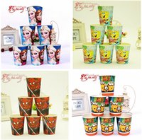 party happy birthday - 20 styles Frozen paper cups Elsa Anna Kid spiderman Boy Girl Baby Happy Birthday Party Decoration Kits Supplies Favors R802