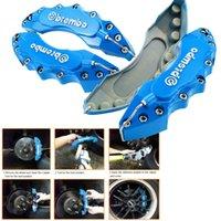 caliper disc brake - 2x D Brembo Style Universal Disc Car Brake Caliper Cover Kit Blue