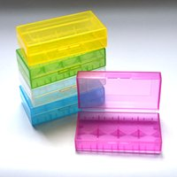 Wholesale Portable Plastic Battery Case Box Safety Holder Storage Container Colorful Pack Batteries for or e cig Battery