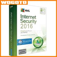 Wholesale 2016 High Quality AVG Internet Security entire function software English years card software key Only no CD Date Due is Feb
