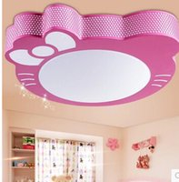 Wholesale New cute cartoon pink kitty girls children bedroom Ceiling Lights LED Lights bedroom cute light