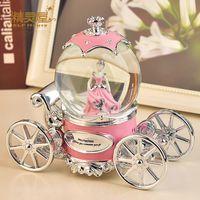Wholesale Princess pumpkin carriage crystal ball music box music box creative birthday gift to send girls girlfriend girlfriends wife