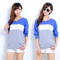 Cheap New Wholesale Lady Women Fashion Tops Casual Long Sleeve O-neck Shirt Blouse Blusa De Renda 3 Colors 24