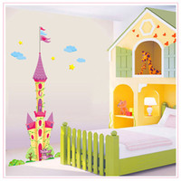 amusement park decorations - Wall Stickers Wall Decals Cartoon Castle Removable Kindergarten Amusement Park Bedroom Decoration Wall Stickers PVC Wall Stickers