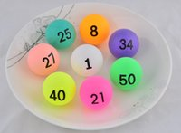 Wholesale 100pcs NO game ball raffle lottery ball Table Tennis PingPong Balls digital letter