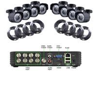 al por mayor kit de canal-Vía DHL EMS 2015 8 Canal CH CCTV MINI DVR Inicio Video Vigilancia Cámaras de seguridad Kit de sistema Detección de movimiento Iphone Control