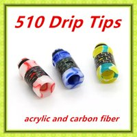 arctic air - 2016 Top Quality atomizer Drip Tips drip tips with wide bore air holes acrylic carbon fiber material For Arctic Tank