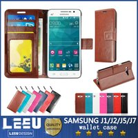 Cheap J5 leather cases Best Galaxy J7 wallet pu leather case