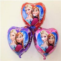 anna roses - 50pcs Frozenned Balloons Elsa Anna Purple Red Rose Inflatable Air Foil Balloon Blue Party Supplies Toys Christmas Decoration