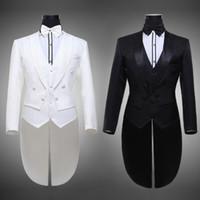2015 Nueva llegada Blanco Negro Hombre Tuxedo boda de la chaqueta formal Trajes de vestir de los hombres Set Tamaño Chaqueta SML XL XXL 3XL 4XL 5XL 6XL