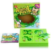 animals title - Children s educational toys task maze Animal Puzzle forest hide and seek NIBOBO title High quality materials toys