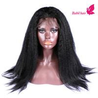 kinky straight full lace wigs - 100 Virgin Brazilian Human Hair Hot Selling Kinky Straight African American Full lace wig Front Lace Wigs