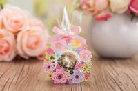 Wholesale NEW Wedding Candy box Paper cm4cm cm colorful flowers hollow out high quality Favor gift box bags