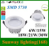beds direct - 12W downlights Factory direct sales LED downlight bathroom lighting LED silver Recessed lamps DHL longer lifespan