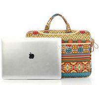 Wholesale 13 quot quot Retro Bohemian Laptop Canvas Case Cover Computer Notebook Sleeve Handle Bag