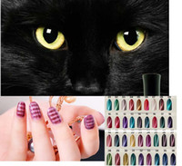 Wholesale D UV Nail Gel Polish LED Cat Eye Color Manicure Dark Cat Color ml Healthy and Eco friendly Gel Lacquer Best On Ali