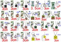Wholesale Fashion Brinquedos Cartoon Game Minecraft Metal Keychain minecraft necklace with retail packing