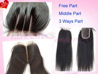Cheap 6A virgin Straight brazilian hair lace top closures 3.5x4 swiss lace closure bleached knots can be dyed