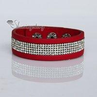 arm wrap bracelet - crystal rhinestone slake bracelets PU leather bracelets wristbands bling bling wrap bracelets arm band personalized leather bracelets