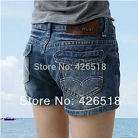 blue jean skirts - 2015 New Hot Sell High Quality Denim Shorts Women Curling significantly thin Fashion Ladies Jean Shorts