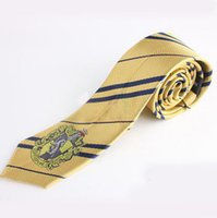 Wholesale Handsome Men Silk Neckties Fashion Wedding Brand Man neck ties striped Harry Potter Trinket tie Design neckwear Cosplay gift