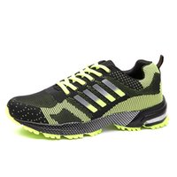 air shocks shoes - Outdoors Sport Shoes For Male Fashion Trend Fly Line Design Men Trainers Shock Resistance Air Cushion Marathon Running Shoes Mens H205