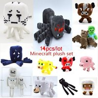 toys lots - 14pcs Minecraft Toys High Quality Minecraft Plush Toys Movie TV Minecraft Creeper Toys For Children Presents