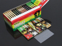 cigarette rolling machine - 50booklets BOB Marley White Pure Hemp Smoking Cigarette rolling paper MM11 leaves booklet rolling machine metal herb grinder