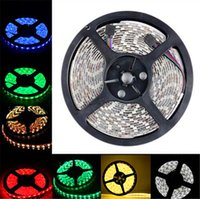 Wholesale Waterproof Strips IP65 M Leds SMD RGB Lights Led Strips leds M Remote controller V A power supply with EU AU UK