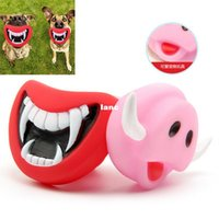 Wholesale Fashion Hot Durable Safe Funny Squeak Dog Toys Devil s Lip Sound Dog Playing Chewing Puppy