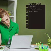PVC art mediums list - 2015 New Office Blackboard Sticker To Do List Removable Waterproof Wall Stickers Chalkboard Decal Chalk Board Decoration Sticker