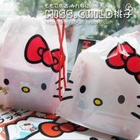 Wholesale White Hellokitty Poly Straw Bag Gift Packing Bag Candies Bag Storage Bag BZ034