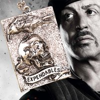 animal skull tattoos - 2016 Newest Movie Jewlty Expendables Necklace Sylvester Stallone Skull and Crow Logo Tattoo Pendant Necklace For Men and Women ZJ