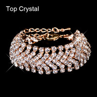 agate designer - ashion Jewelry Bracelets Brand designer new hot sell charming bride wedding crystal jewelry Shiny rhinestone Wide Bracelet for women
