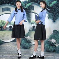 Wholesale Special Republican cotton young graduate student uniforms fifty four Photo chorus costumes black women