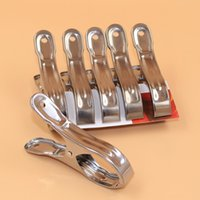 Wholesale large stainless iron clip is clamped by the sun drying clothes clip fishtail single price