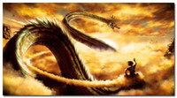 Wholesale Dragon Ball Z Anime Art Silk Wall Poster x36inch Goku Ride Shenron