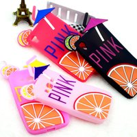 soft drink - PINK Lemon Fruit Drinks Phone Cases Silicone Soft Cute Back Cover For iPhone S S S Plus For Samsung Galaxy S6 S6EDGE G350 G355 LG