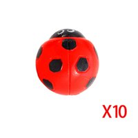 Wholesale 2015 new arrival per set Miniature Decorations Coccinella septempunctata resin crafts DIY little Garden Decor J1158