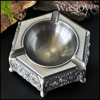 Wholesale Fashion vintage personality metal ashtray home decoration tabletop decoration larger size ancient Egyptian Cigar cylinder