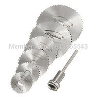 Wholesale 6 Pack Mandrel HSS High Speed Circular Saw Blades Cutting Discs Set for Drill