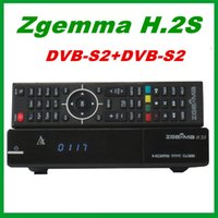 Wholesale 10pcs Original Zgemma H S TWO DVB S2 enigma Linux Operating System HD satellite receiver Support TF card