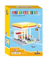 architecture cartoon - QCF gift box series types architecture cartoon diamond blocks Bricks NOT LOZ