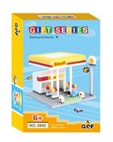 architecture series - QCF gift box series types architecture cartoon diamond blocks Bricks NOT LOZ