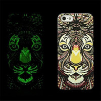 For Apple iPhone apple tiger - Fluorescent Noctilucent D cute Cartoon Case Grind Arenaceous Feel Animal world Tiger OWL Wolf Phone Cover For Iphone plus s