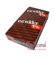 Cheap 24 Booklets of EZ-WIDER 1 1 4 24 Booklet Packs Cigarette Rolling Paper Brand New Sealed 78mm smoking rolling paper 1 box