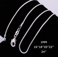 best quality china - High Quality MM inches Sterling Silver Snake Chain Necklace Fashion Jewelry Best Price