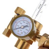 argon flow regulator - Mig Tig Flow Meter Control Valve Regulator for Gauge Welding Weld Gas Welder Carbon Dioxide CO2 Argon Pressure Reducer