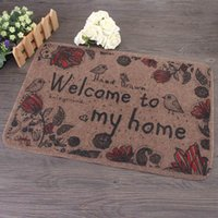 Wholesale Hot Styling Polyester Flower Bird Pattern Welcome Mats Cartoon Bedroom Bathroom Carpets Decorative